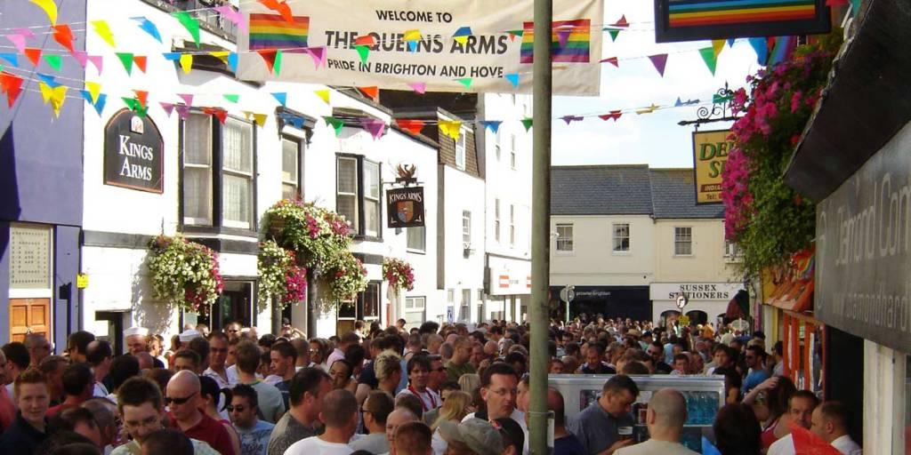 Streets during Brighton festival