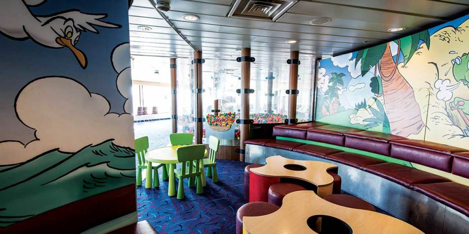 Kids club area onboard