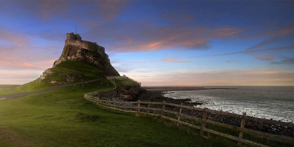 Landscape of Lindisfarne in the North of England