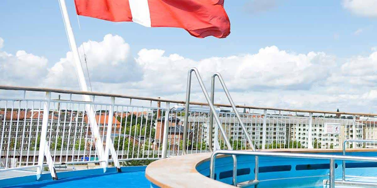 Deck on Copenhagen-Oslo ferry