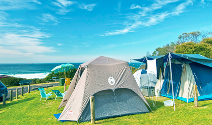 Frazer campground in Munmorah State Conservation Area