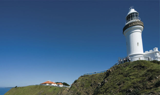 Cape Byron Lighthouse, Cape Byron State Conservation Area. Photo: D.Young/OEH