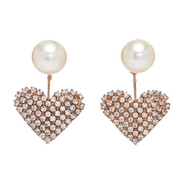 Jennifer behr exclusive pearl and swarovski crystal drop earrings