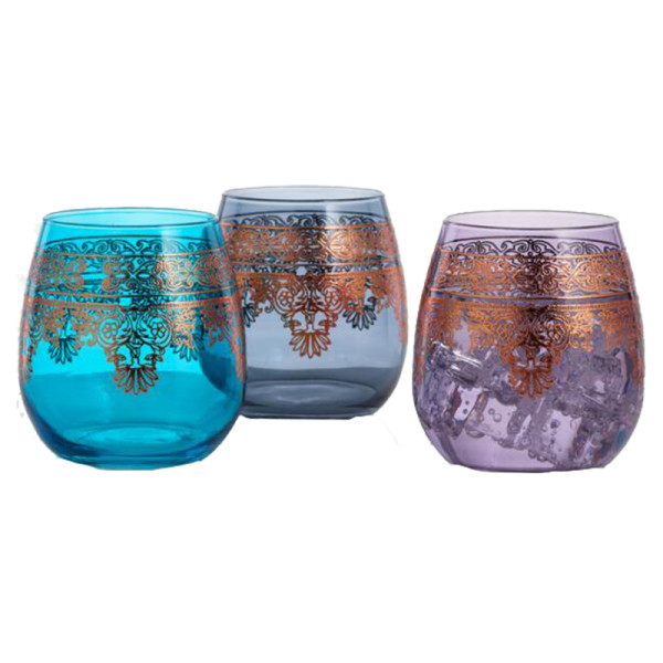 World market moroccan stemless wine