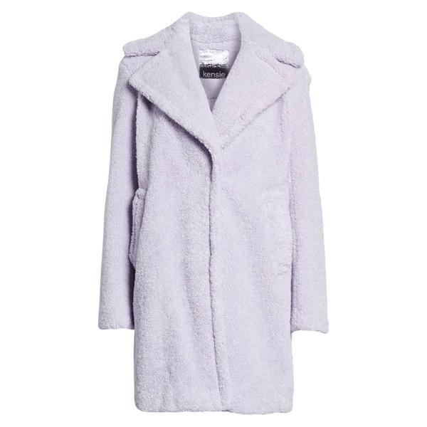 Kensie faux fur teddy bear coat