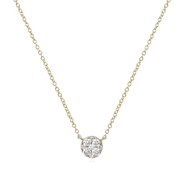 Ef collection diamond pendant necklace