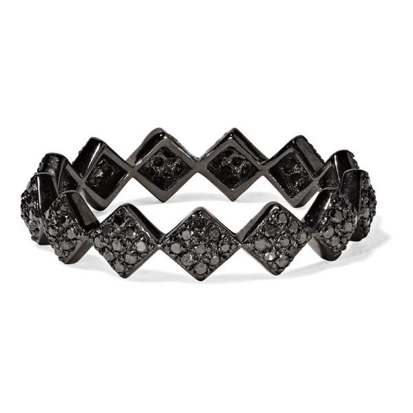 Ofira tattoo 18k blackened white gold diamond ring