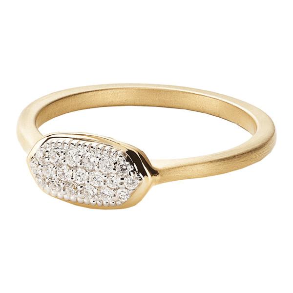 Kendra scott isa pave diamond ring in 14k yellow gold