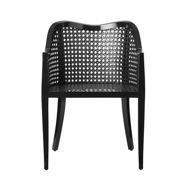 Cb2 tayabas black cane side chair