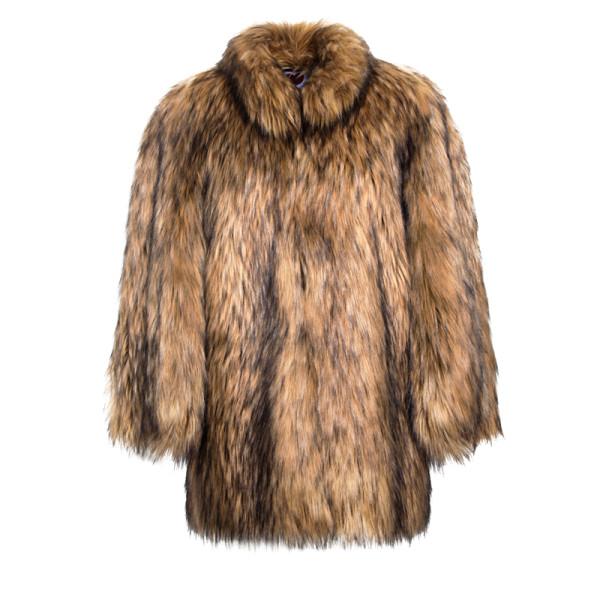 Natural yeti cape coat