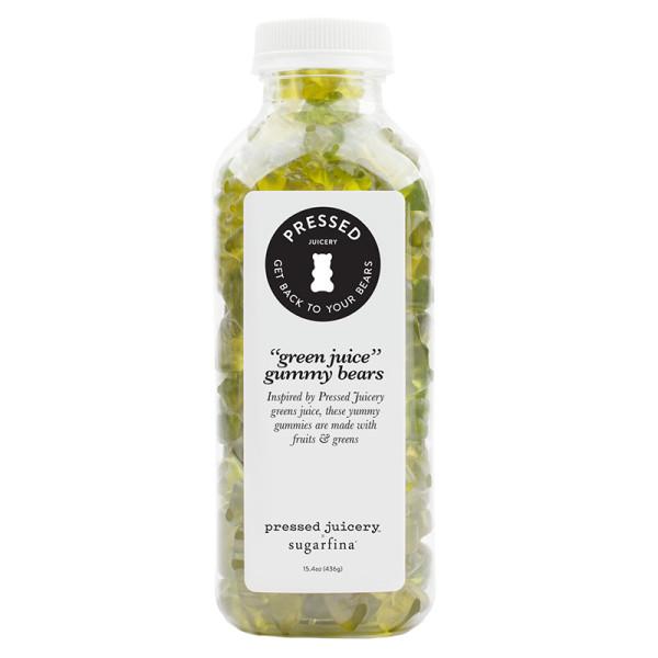 Pressed juicery x sugarfina green juice gummy bears