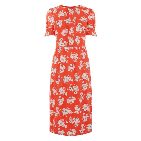 Osasis floral slit midi dress
