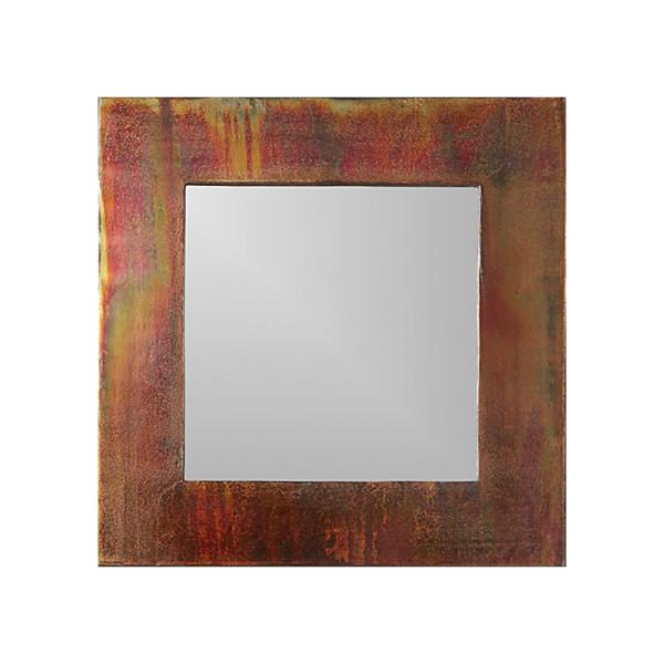 Cb2 24  petra antiqued square wall mirror