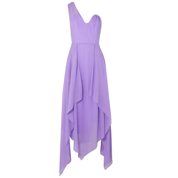 Roland mouret felcourt one shoulder silk crepe dress