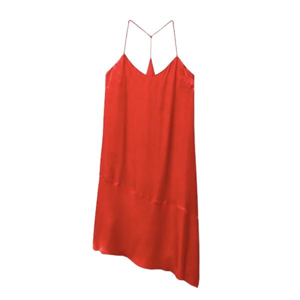 Mango asymmetrical satin dress