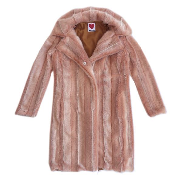 Vintage mink coat in pale pink