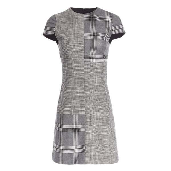 Alice   olivia coley colorblock cap sleeve a line dress