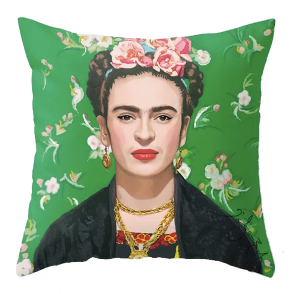 Lluna llunera frida throw pillow