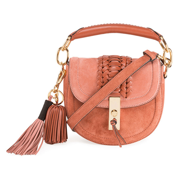 Altuzarra mini braided top handle saddle bag