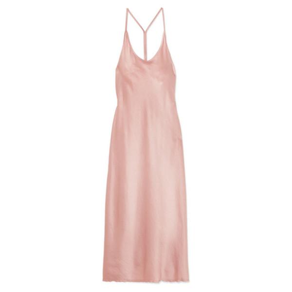 T by alexander wang satin midi dress