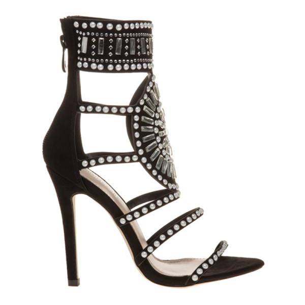 Public desire cleopatra embellished heeled sandals