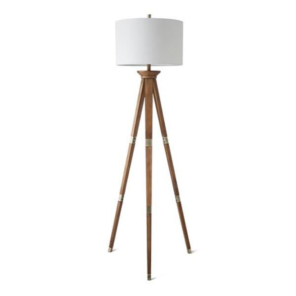 Threshold Oak Wood Tripod Floor Lamp Story Rain