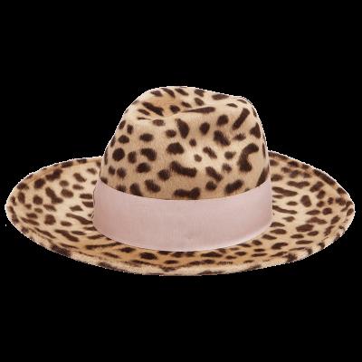 Federica moretti leopard print hat