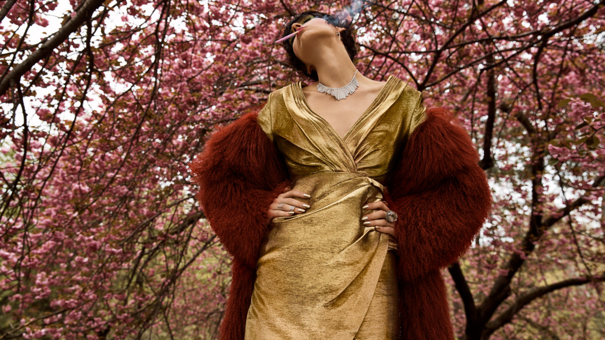 Agnes gold dress v2