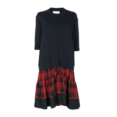 3.1 phillip lim   plaid cotton dress
