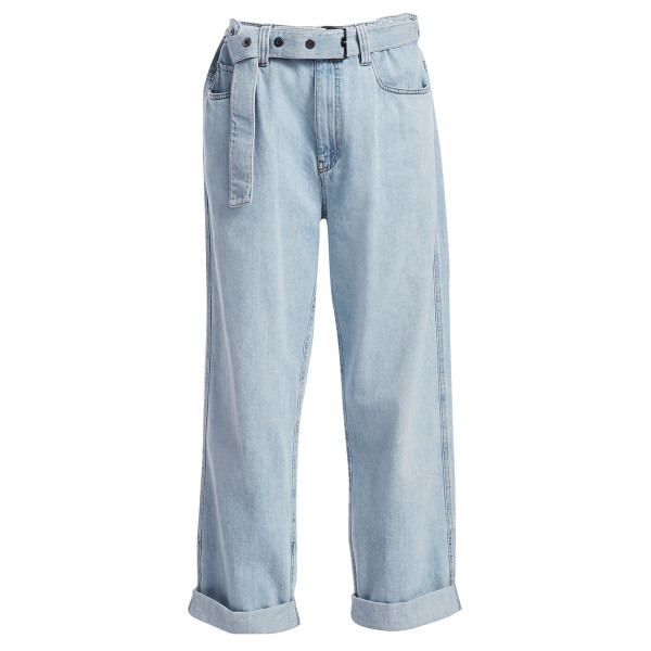 Brunello cucinelli grommet belted relaxed fit jeans