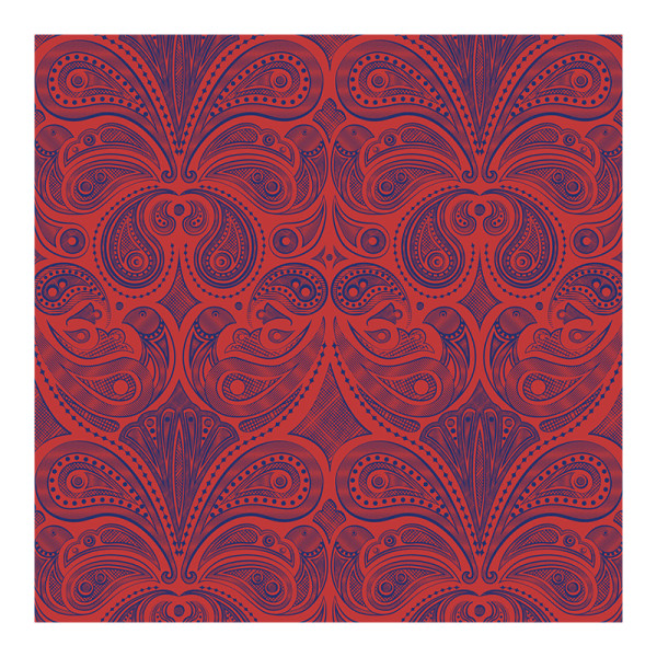 Jonathan adler bird paisley wallpaper