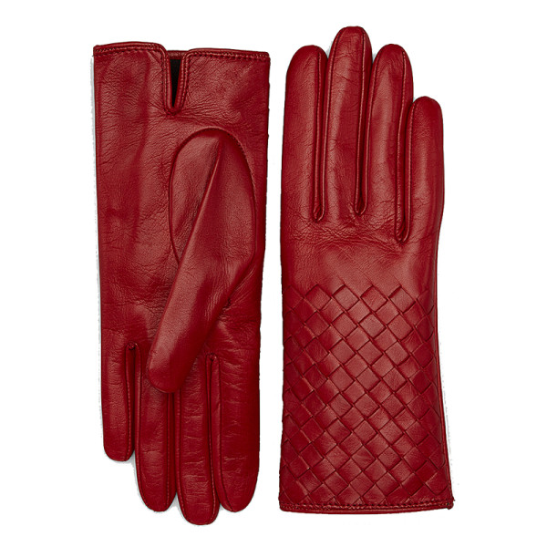 Bottega veneta baccara rose nappa gloves