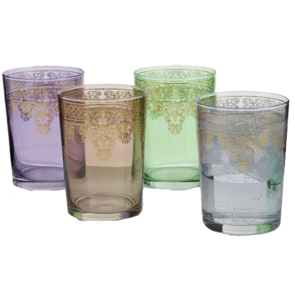 World market moroccan double old fashioned glasses