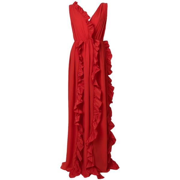 Msgm ruffle trim gown