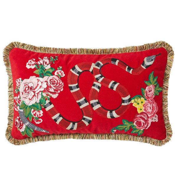 Gucci oblong velvet snake cushion