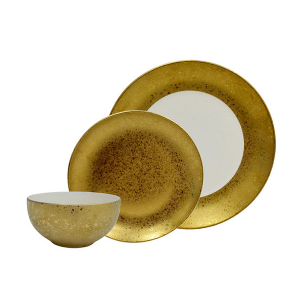 Ats gold tone selene dinnerware