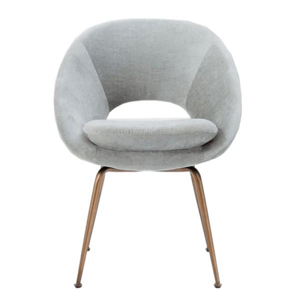 West Elm Orb Velvet Dining Chair Story Rain