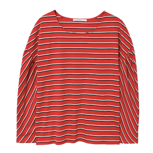 Mango striped cotton t shirt