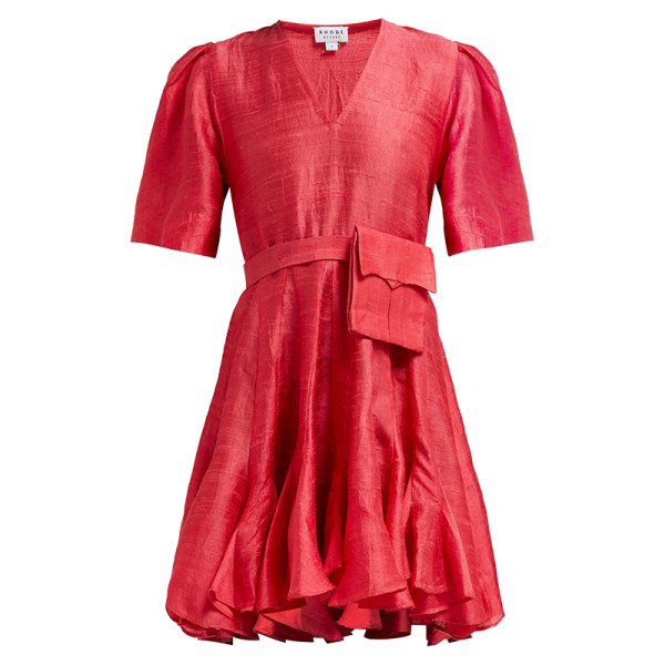 Rhode resort vivienne slubbed silk dress