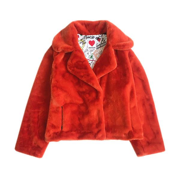 Classic teddy jacket in rust