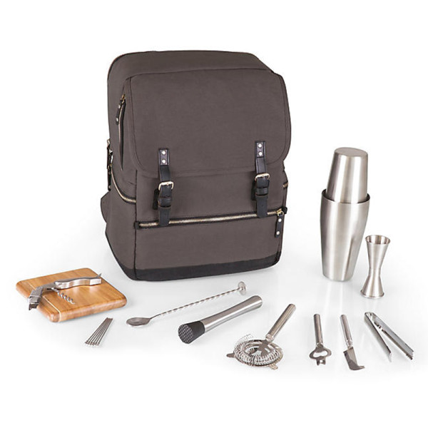 Picnic time bar backpack set  gray multi