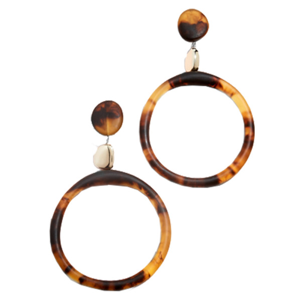 Dinosaur designs sand hoop drop clip on earrings