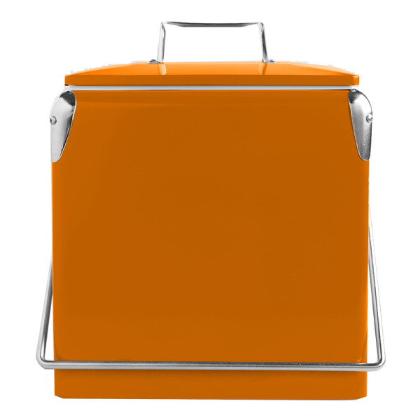 World market orange retro drink cooler
