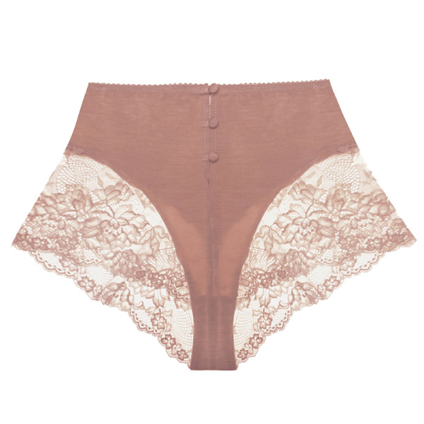 Lonely hollie stretch bamboo and lace briefs