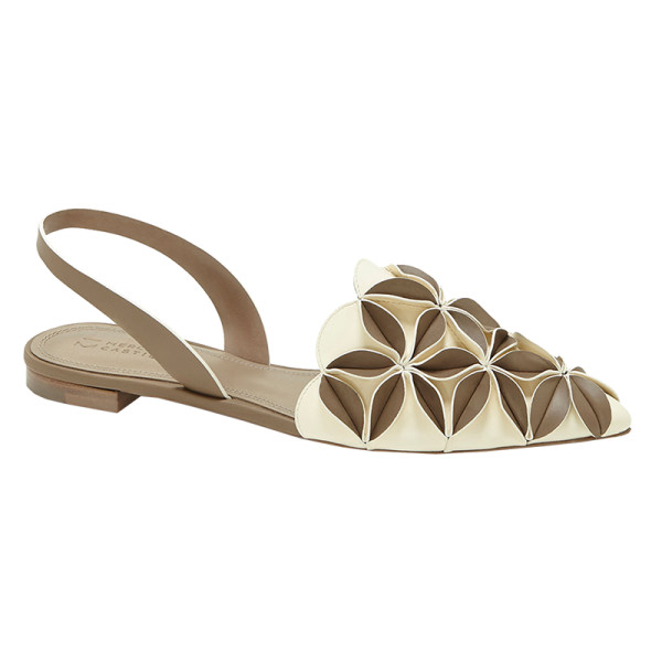 Mercedes castillo madee slingback sandal with 3d petal detail