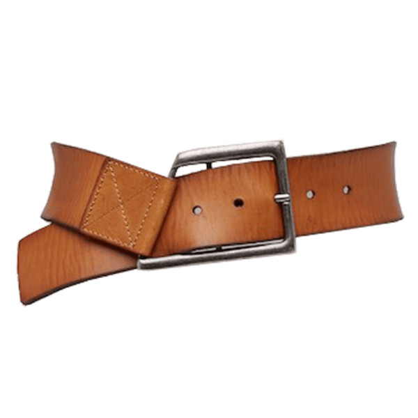 Linea pelle geometric buckle leather belt