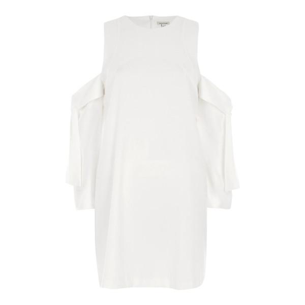 River island cold shoulder tie sleeve swing dress