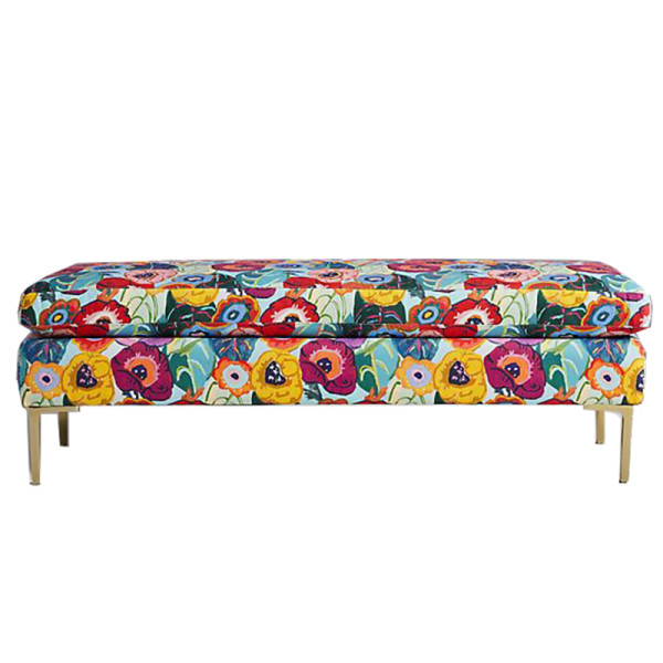 Anthropologie karina printed edlyn bench