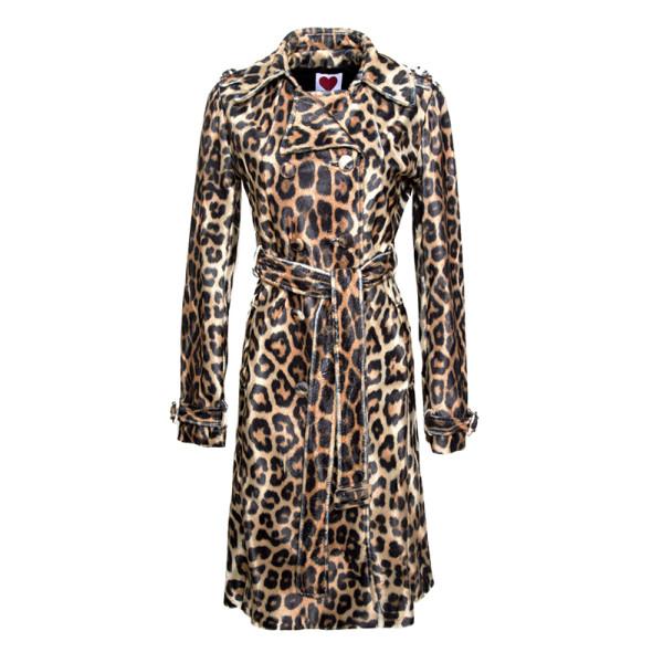 Classic leopard trench coat
