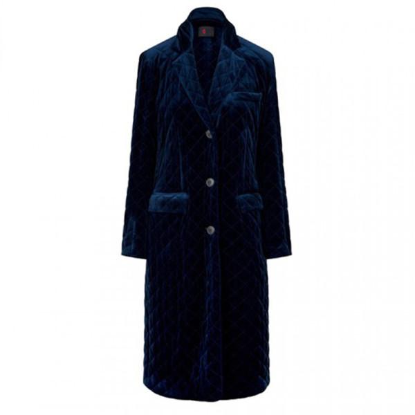 Sonia rykiel quilted velvet coat
